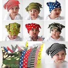 Soft Cotton Stripes Spots Pattern Children Kid  Beanie Cap Gift Baby Toddle Hat