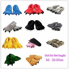 Men&Women's Pajamas Slippers Paw Claw Animal WarmCartoon Cosplay Home Shoes