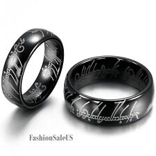 8mm/ 6mm Lord of the Ring Men's Women's Tungsten Carbide Ring Lord Laser Etched