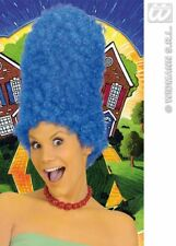 Simpsons Blue Marge Wig Tall Afro Beehive Party Fancy Dress World Book Halloween