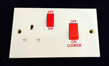 Cooker Switch with Socket 45A Cooker Switch & 13A Switched Socket