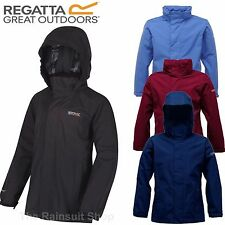 REGATTA GREENHILL WATERPROOF KIDS RAIN COAT JACKET BOYS GIRLS AGE 5-12yrs