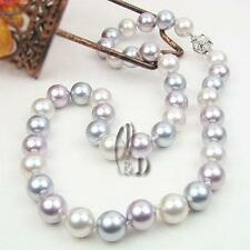 AU SELLER Chic Coloured 10mm Sea Shell pearls Necklace Bracelet Earrings n002-3