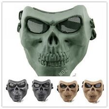 Skull HalloweenTactical Military Full Face Mask Hunting Shooting Playing Game