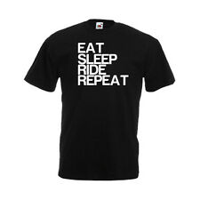 Eat Sleep Ride Repeat Mens Funny Custom Personalised T-Shirt, Gift, Present, NEW
