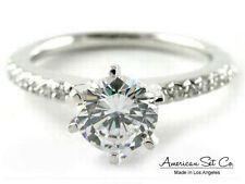 PLATINUM PAVE DIAMOND ENGAGEMENT RING SOLITAIRE SETTING
