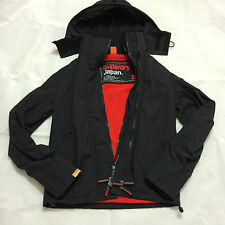 Superdry Windcheater Arctic Mens Hooded Jacket Black / Red RRP £75
