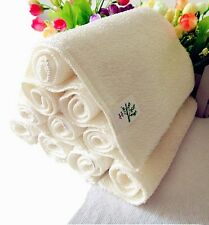 New White Bamboo Fiber Cleaning Cloths Dishcloths Rags Washing Cleaning Towel