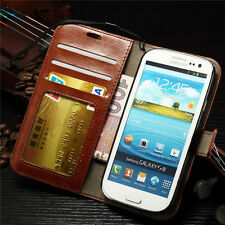 Hybrid Wallet PU Leather Stand Case Flip Cover for Samsung Galaxy S3 i9300 S III