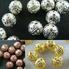 Wholesale Silver/Copper/Gold Plated Round Spacer Loose Beads DIY Jewelry