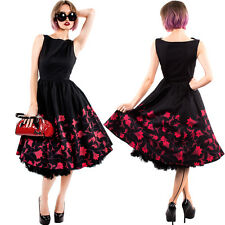 Chicstar Red Autumn Dress Black Vintage Swing Prom 50's Rockabilly Pinup Retro