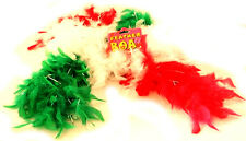 LADIES WOMENS GIRL WALES WELSH CYMRU RUGBY HEN DO PARTY FUN FEATHERED BOA SCARF