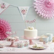 Vintage Floral Fancy Partyware, Tea Party / Wedding Table Decorations