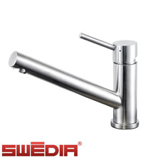 Oskar Stainless Steel Kitchen Sink Mixer - Optional Pull Out - Low height