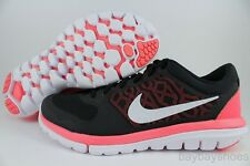 NIKE FLEX 2015 RUN BLACK/WHITE/HOT LAVA CORAL PINK RUNNING FREE 2014 WOMEN SIZES