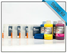 4 x Refillable Cartridges + 4 x 250ml Ink compatible with Epson Stylus Pro 7400