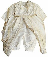Baby Boy Christening & baptism outfit, Spanish Style Gown (ropones para bautizo)