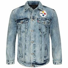 New NFL Unisex Vintage Denim Jacket Style Number SF963 Pittsburgh Steelers 2XL