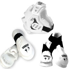 Taekwondo,Karate MMA Headgear,Hand,Foot Macho Warrior Sparring Gear set-WHITE