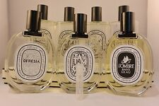 Various Diptyque perfume Sample Spray Size 2 ml Refillable Choose your Scent