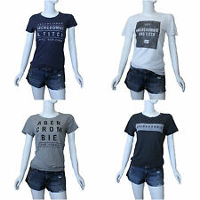ABERCROMBIE&FITCH WOMEN'S CLASSIC GRAPHIC TEE SHIRT SIZES S , M