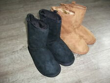 PRIMARK WOMENS GIRLS BOOTS FAUX SUEDE FUR SIZE 13 - 5