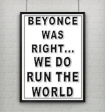 Motivational inspirational quote life poster picture print BEYONCE GIRL POWER