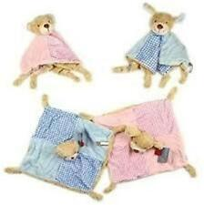 Baby Keel Knotted Comfort Blankie Security Blanket Rattle Pink Blue Puppy Bear
