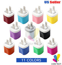 2 Pack USB Power Adapter AC Wall Charger US Plug for iPhone iPod Samsung
