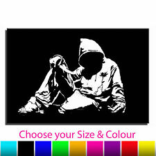 Hoody Banksy Single Canvas Wall Art Picture Print TA