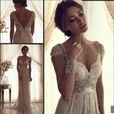 New Lace white /ivory wedding dress custom size 2-4-6-8-10-12-14-16-18-20