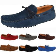 Men's Italian Faux Suede Casual Loafers Moccasins Driving Slip on Shoes