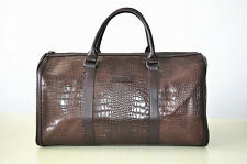 New Vintage Real Leather Travel Luggage Overnight Weekend Gym Duffle Bag