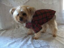 New listing Dog Clothes Red/Black Plaid Blouse Sizes Xxsmall Xsmall Small