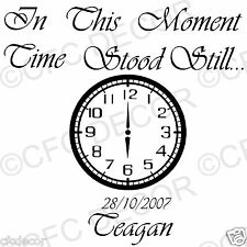 In These Moments Time Stood Still Wall Quote Stickers Wall Decal in 20 colours
