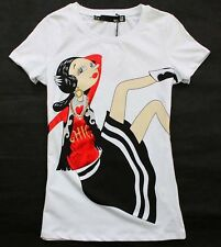 2015 New Love Women's Fashion Lady's Printed Short Seelve Moschino Top/T-shirt