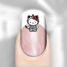 Hello Kitty Leopard Costume Nail Art Decal Transfer x24 Adult Kid Peel n Apply