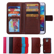 New Luxury 9 Card Leather Wallet Stand Case Cover For Samsung Galaxy Models