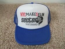 New Sector 9 Trucker Hat ~ NYC makes fun Sector 9 Skateboard Co. ~ Red or Blue
