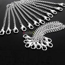 Charm Women Silver Plated Color For Necklace Chain Extender + Lobster Clasp HFAU