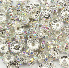 AB Crystal Rondelle Spacer Beads Glass Swarovski Crystal Rhinestone 6MM 8MM 10MM
