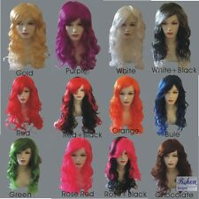 Women's Sexy Long Curly Fancy Dress Wigs Cosplay (12 Color )Ladie Full Wig Party