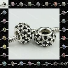Colors & Clear 925 Sterling Silver Swarovski Crystal Ball Beads Pandora Bracelet