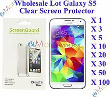 For Galaxy S5 Screen Protector Clear Wholesale Lot Retail Packaging 3X 10X 20X