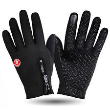 Winter Cycle Gloves Thermal Windproof Cycling Fleece Reflective Sculling Hi Viz