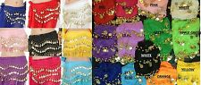 Adult Belly Dancing Dance Coin Belt Hip Scarf Skirt Wrap Bollywood dance Costume
