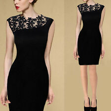 Sexy Lady Lace Stretch Clubwear Cocktail Evening Party Bodycon Dress Noble
