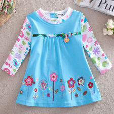 New Girls Long Sleeve T Shirt with Embroidered Flowers  Girls Dress Top