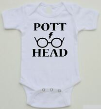 Funny Baby Onesie - POTT HEAD (Harry Potter) - Available in white - sizes 0-24