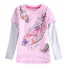 NOVA Girls Long Sleeved Pink Feather Top Size 18 - 24 M to 6 Years